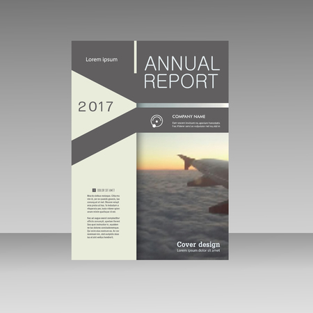 Vector business brochure flyer. Annual report template abstract design presentation.