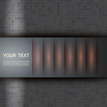 website header: Example of a simple cover. Vector design eps10