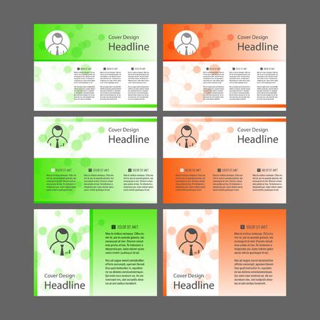 Set of Cover design template for presentation