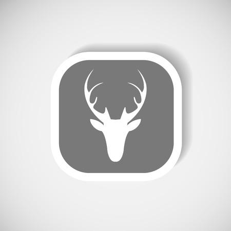 Vector christmas deer head icon