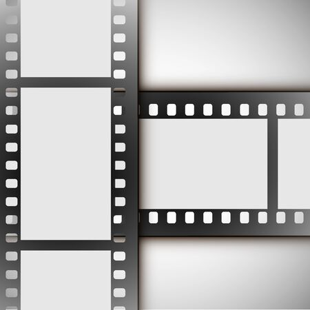 vector film strip on a white background Banque d'images - 143339242