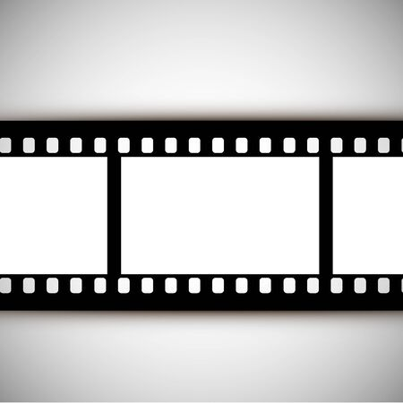 vector film strip on a white background Banque d'images - 143648186