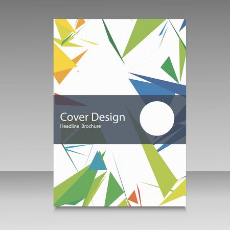 Brochure in colors of Brazil flag. Vector color concept. Design for cover, book, website background.