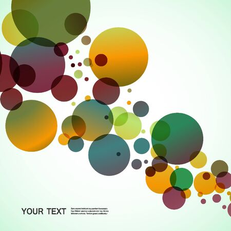 Vector bright circles.Abstract colorful background.