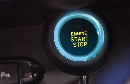 car engine push start or stop button