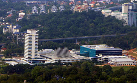 KUALA LUMPUR,MALAYSIA - DEC 22, 2018: Malaysia House of Parliament. The construction was started in 1959 by Tunku Abdul Rahman, Malaysian first Prime Minister