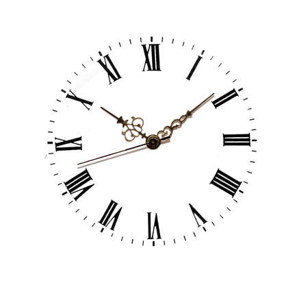clock face isolated on white