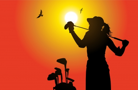 golfer: Golfer  Illustration