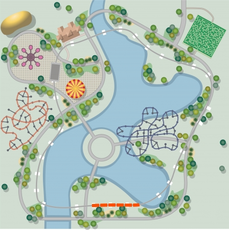 Theme park Vector