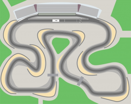 Racing circuit aerial view