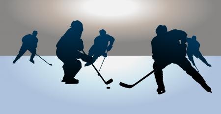 アイス ホッケーの試合  イラスト・ベクター素材