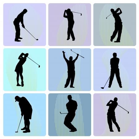 Golfer  向量圖像