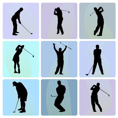 golf swing: Golfer  Illustration