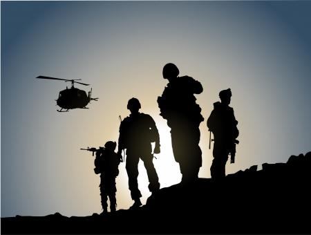 Armee auf dem Schlachtfeld