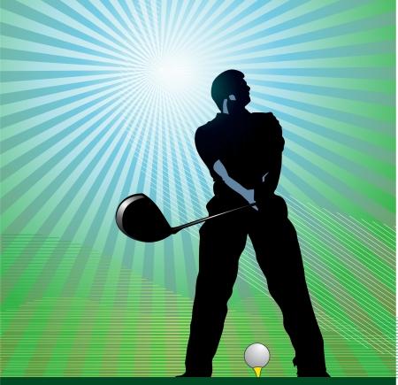 Golfer vector Illustration