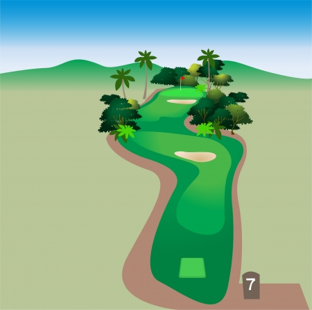 sand trap: Golf Course Hole