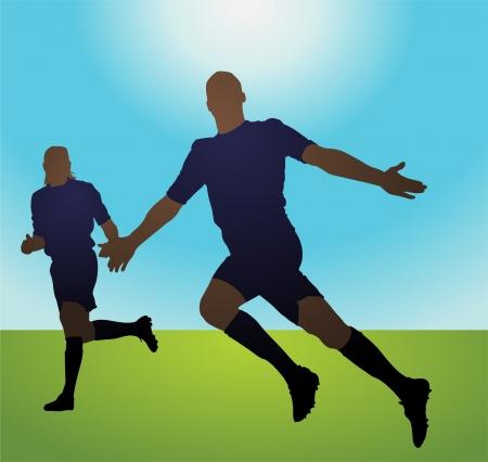 winning pitch: Goal Celebration Illustration