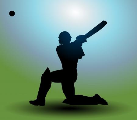 cricket stump: Cricket player