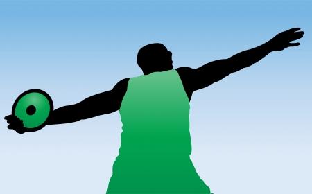 thrower: illustration of discus thrower Illustration