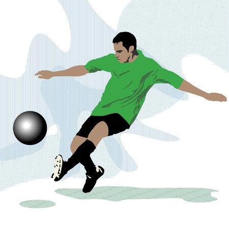 sports league: Football player Illustration