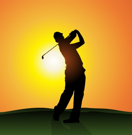 Golfer silhouette  Illustration