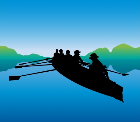 canoe paddle: Canoeing in the river