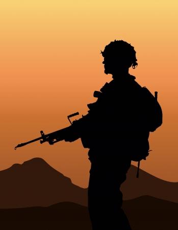 guard duty: Soldado Vectores