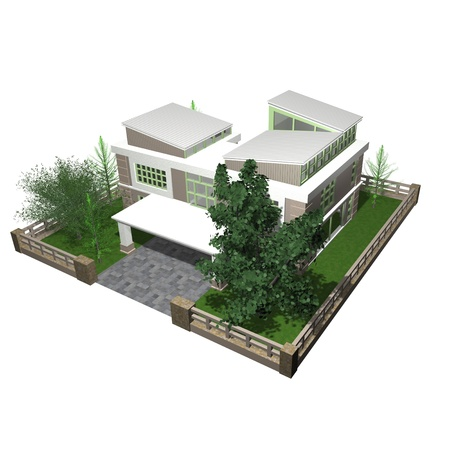 house render: 3d bungalow