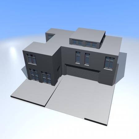 dwelling: Big house  Stock Photo