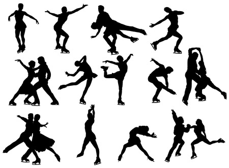 ice skater set Vector