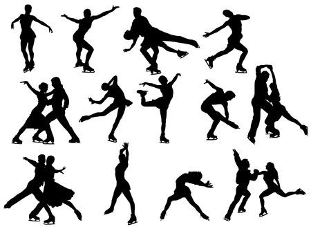 patinaje: set patinador de hielo