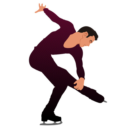 ice skater Illustration