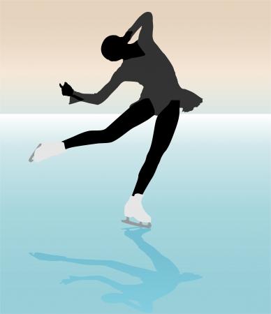 ice skater Illustration