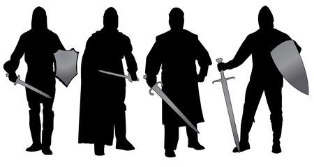 medieval warrior: knights Illustration