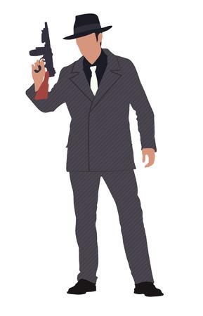 gang member: mafia Illustration