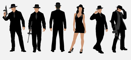 mafia set Vector