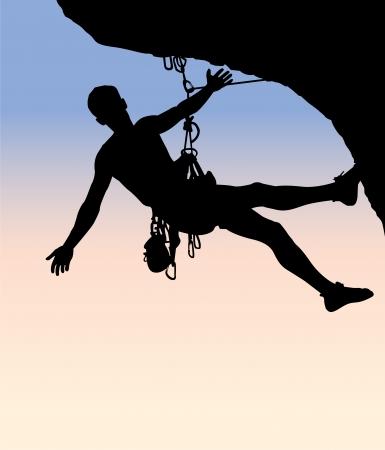 mountain climber: mountain climbing Illustration