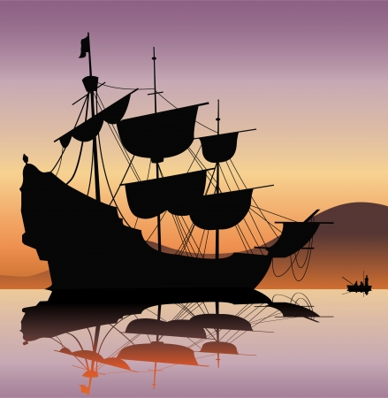caravelle: bateau pirate
