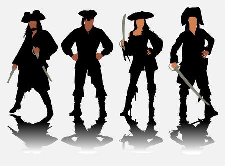 dieven: piraten Stock Illustratie