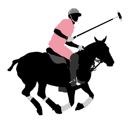 Polo player Ilustrace