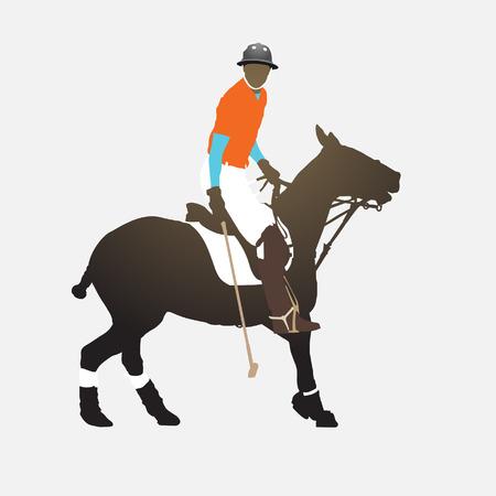 polo: Polo player Illustration