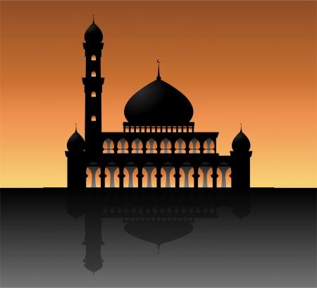sillhouette: mosque Illustration