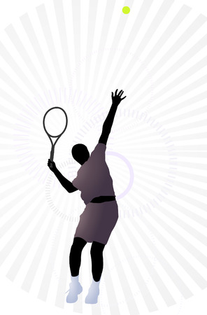 concentrates: Tennis player Illustration