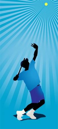Tennis Player Ilustração