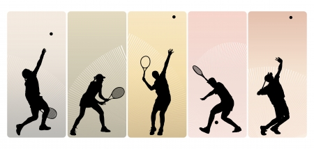 Les joueurs de tennis Banque d'images - 24908484