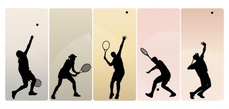 tennis girl: Tennis players