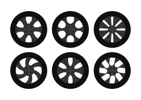 Car wheel set  Illustration