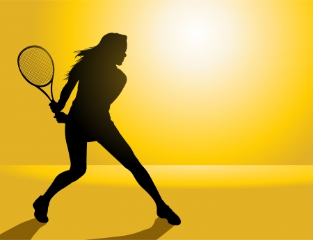 Tennis Player Ilustrace