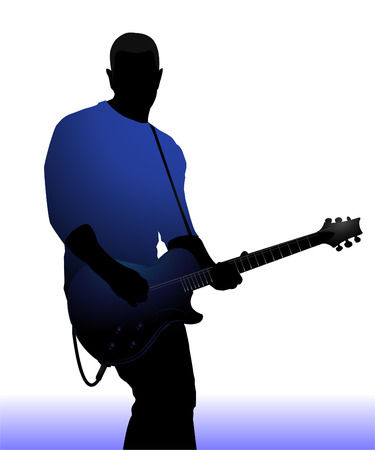 Guitar player  Illustration