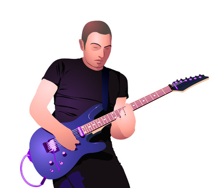 Guitar player  Ilustrace